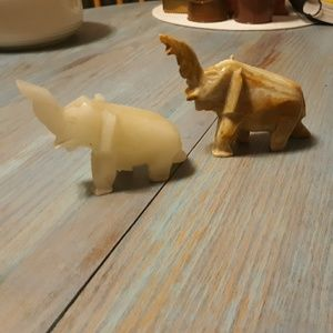 Marble carved elephants